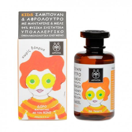 APIVITA - KIDS Hair & Body Wash with honey & tangerine