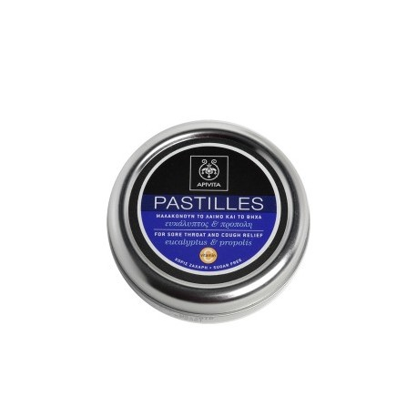 APIVITA - PASTILLES Pastilles for Sore Throat and Cough Relief with eucalyptus & propolis 45g
