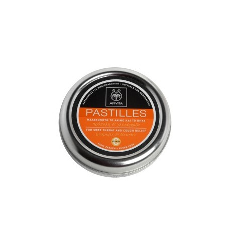 APIVITA - PASTILLES Pastilles for Sore Throat and Cough Relief with liquorice & propolis 45g
