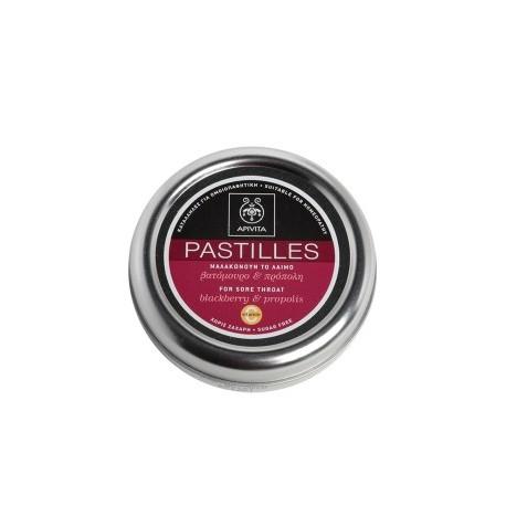 APIVITA - PASTILLES Pastilles for Sore Throat with blackberry & propolis 45g