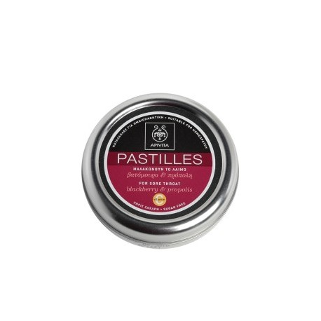 APIVITA - PASTILLES Pastilles for Sore Throat with blackberry & propolis 45g