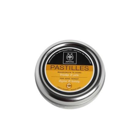 APIVITA - PASTILLES Pastilles for Sore Throat with honey & thyme 45g