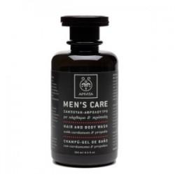 APIVITA - MENS CARE Hair and Body Wash with cardamom & propolis 250ml