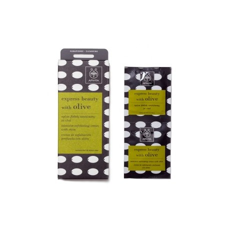 APIVITA - EXPRESS BEAUTY Intensive Exfoliating Cream with olive 2x8ml