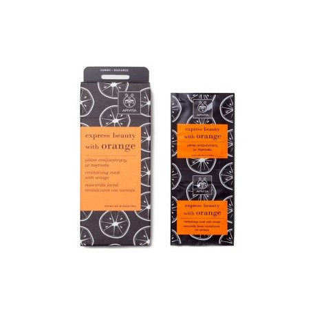 APIVITA - EXPRESS BEAUTY Revitalizing Mask with orange 2x8ml