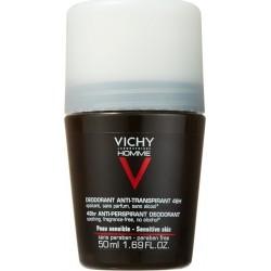 Vichy Homme Deodorant 48h Αποσμητικό Roll-On κατά του Ιδρώτα 50ml