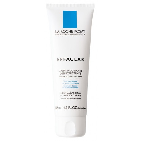 LA ROCHE POSAY - EFFACLAR Deep Cleansing Foaming Cream, 125 ml tube