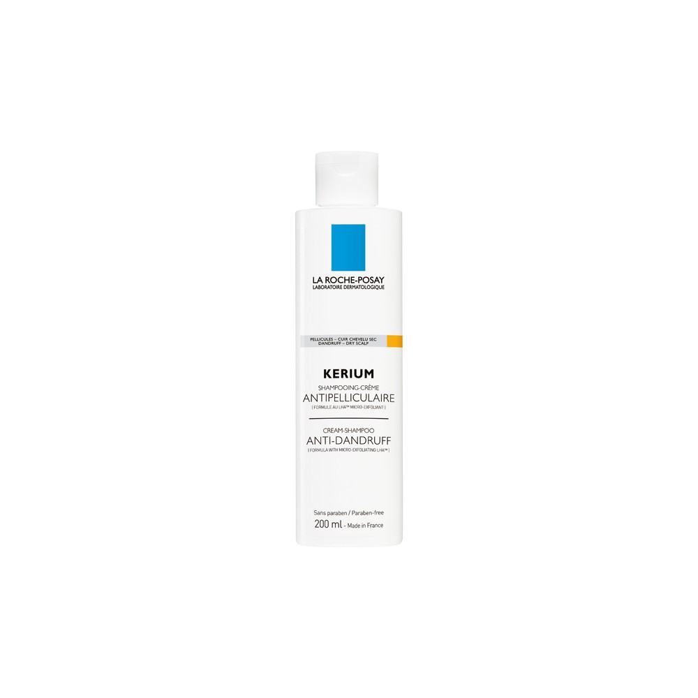 LA ROCHE POSAY - KERIUM DRY DANDRUFF Anti-Dandruff Cream Shampoo, 200 ml bottle