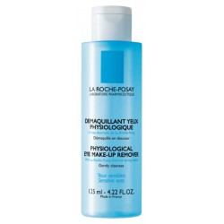 LA ROCHE POSAY - PHYSIOLOGICAL EYE MAKE-UP REMOVER Gentle, paraben-free make-up remover, Clear blue PP 125ml capsule bottle