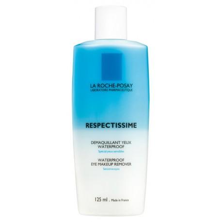 LA ROCHE POSAY - RESPECTISSIME WATERPROOF EYE MAKE-UP REMOVER Paraben-free waterproof eye make-up remover, 125ml PP bottle