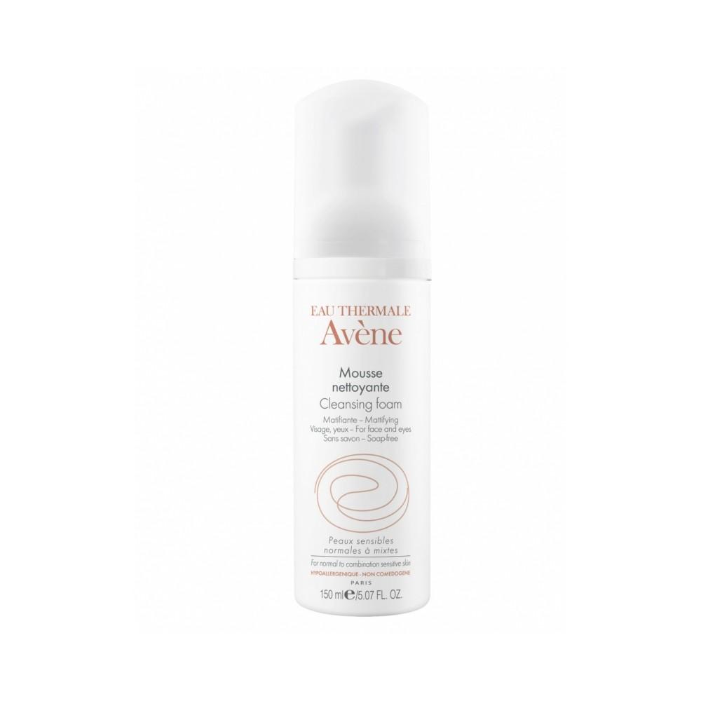 AVENE - MOUSSE NETTOYANTE Cleansing mattifying foam for face & eyes 200ml