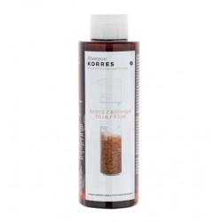 Korres Σαμπουάν για Λεπτά & Αδύναμα Μαλλιά με Πρωτεΐνες Ρυζιού & Τίλιο 250ml