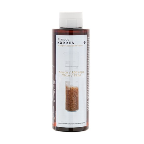 KORRES - RICE PROTEINS & LINDEN SHAMPOO For thin/fine hair, 250mL