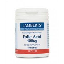 Lamberts Folic Acid 400mg 100tabs