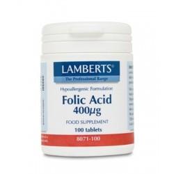 Lamberts - Folic Acid, 100 Tablets