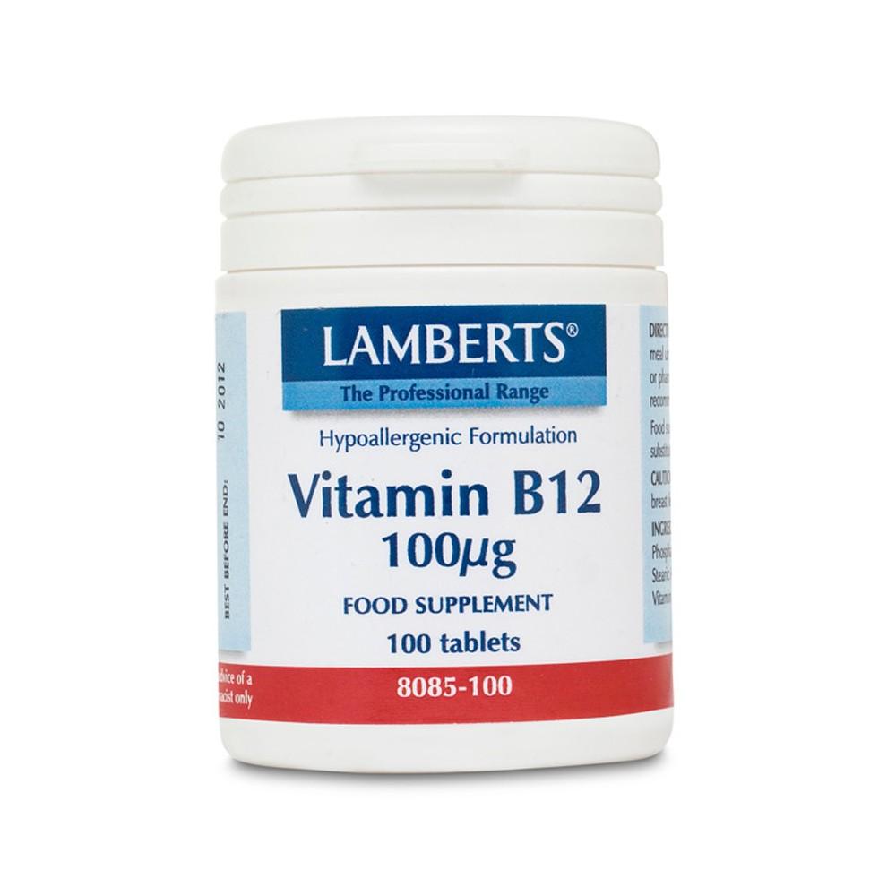 Lamberts - Vitamin B12 100mcg, 100 Tablets