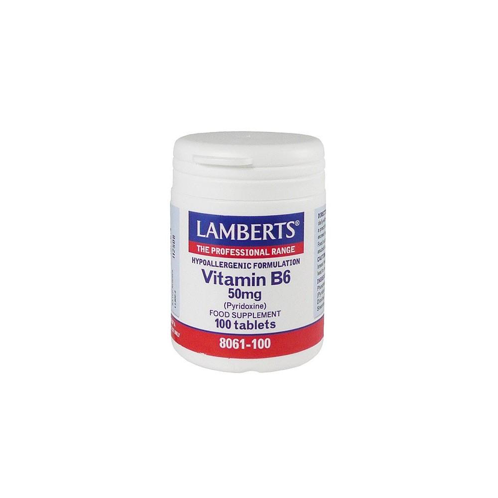 Lamberts - B-6 50Mg (Pyridoxine), 100Tabs
