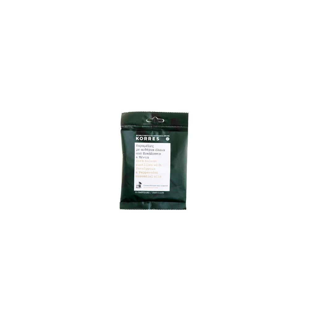 KORRES - PASTILLES EUCALYPTUS & PEPPERMINT ESSENTIAL OILS 15 herb balsam pastilles, 60mL