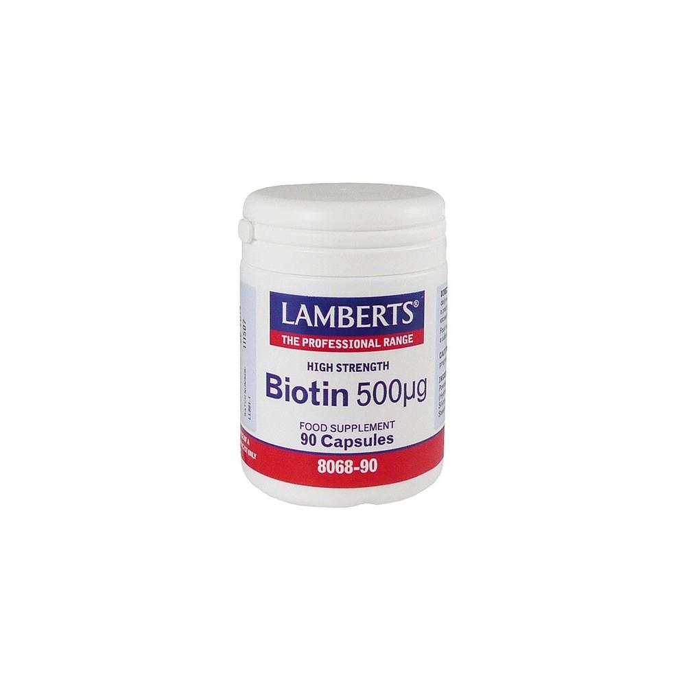 Lamberts - Biotin 500 Mcg, 90Caps
