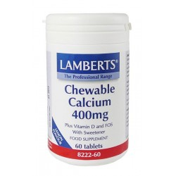 Lamberts - Chewable Calcium 400Mg, 60 Tabs
