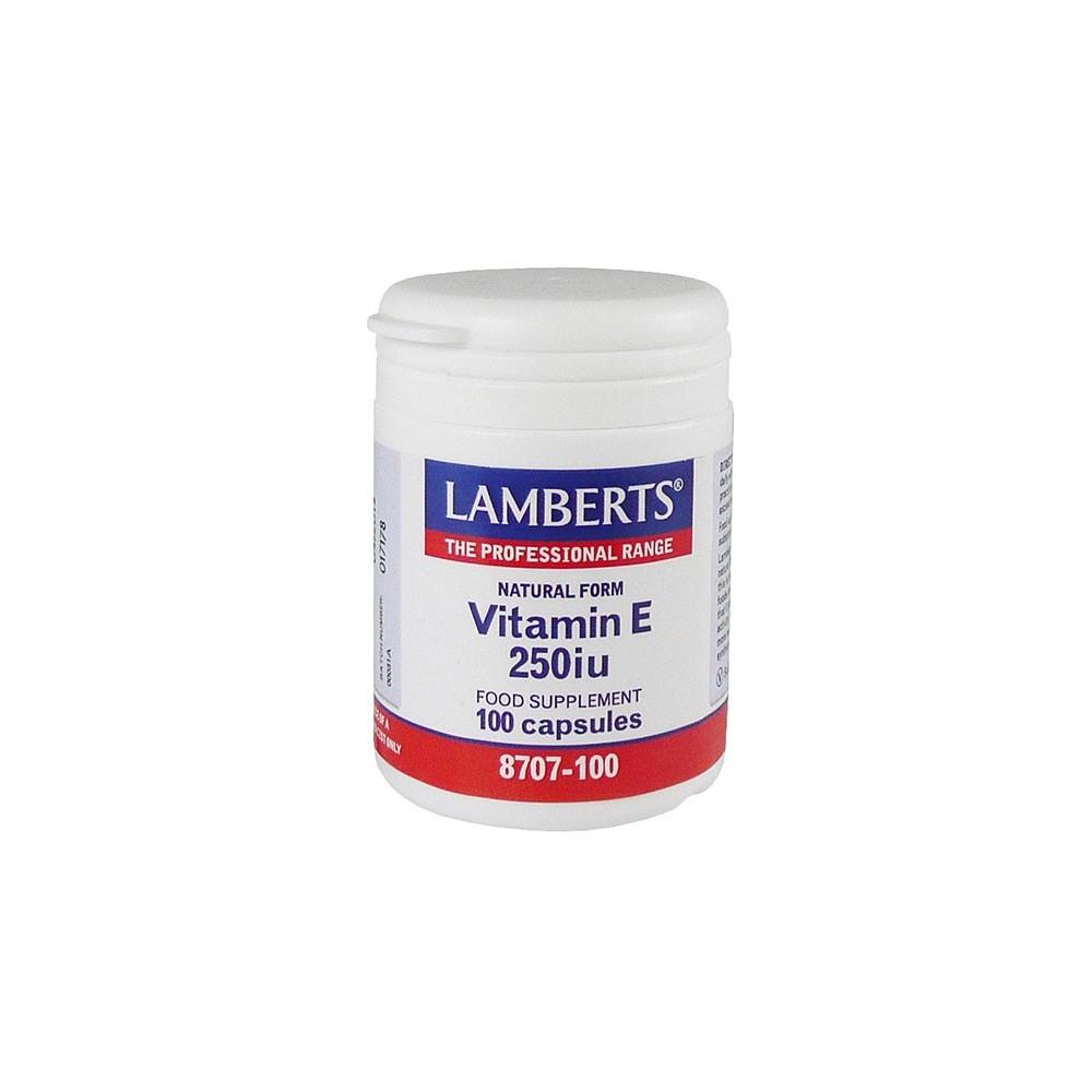 Lamberts - E-250Iu Natural, 100Caps