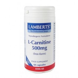 Lamberts - L-Carnitine 500mg New Higher Strength, 60 Caps