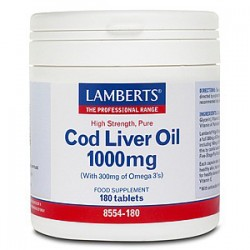 Lamberts - Cod Liver Oil 1000mg, 180 Caps