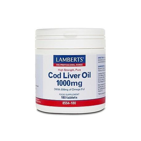 Lamberts - Cod Liver Oil 1000mg, 180 Caps