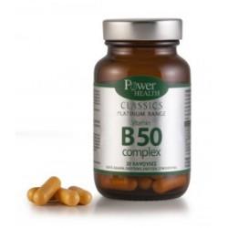 POWER HEALTH - Classics Platinum Range Vitamin B50 Complex, 30 caps