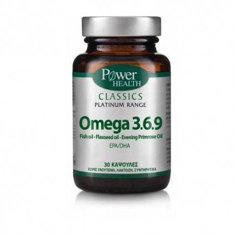 POWER HEALTH - Classics Platinum Range Omega 3.6.9, 30caps