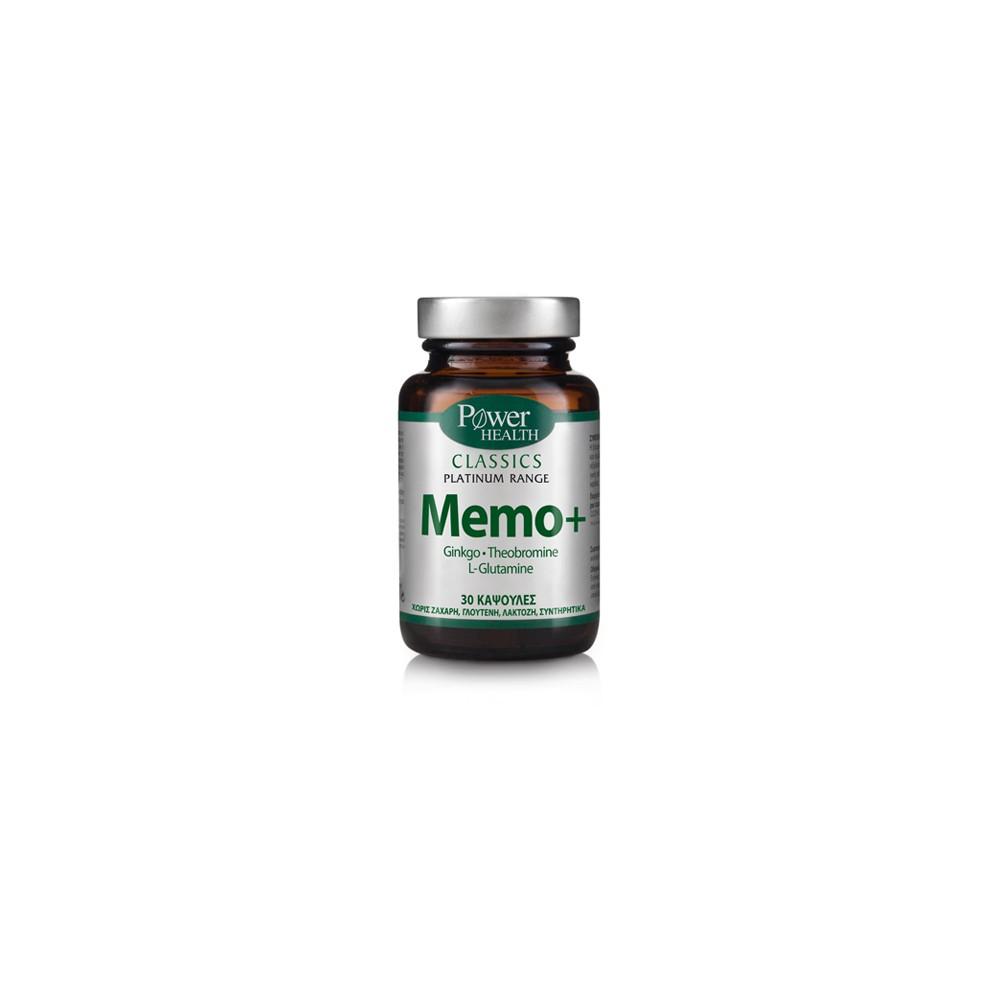 POWER HEALTH - Classics Platinum Range, Memo+, 30caps
