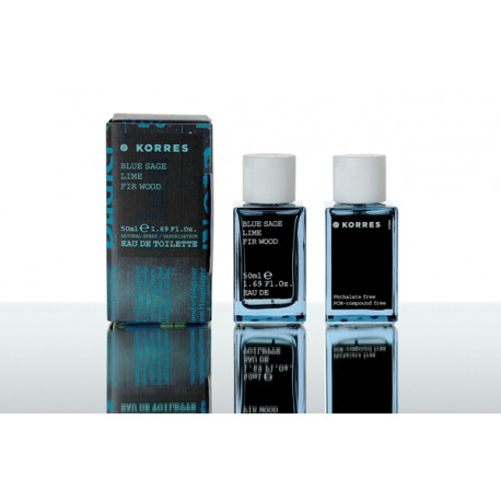 KORRES - FRAGNANCE Blue Sage / Lime / Fir Wood Άρωμα Ανδρικό, 50ml