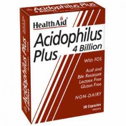 HEALTH AID - Acidophilus Plus 4 Billion, blister 30V.Caps