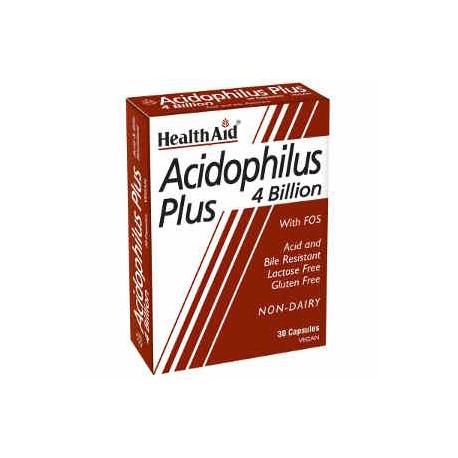 HEALTH AID - Acidophilus Plus 4 Billion, blister 30V.Caps
