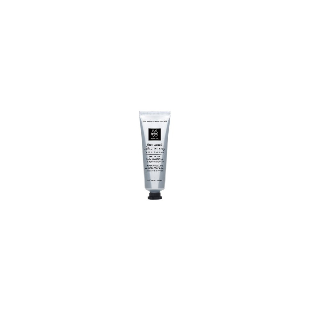 APIVITA - FACE MASK Μάσκα για Βαθύ Καθαρισμό με πράσινη άργιλο 50ml