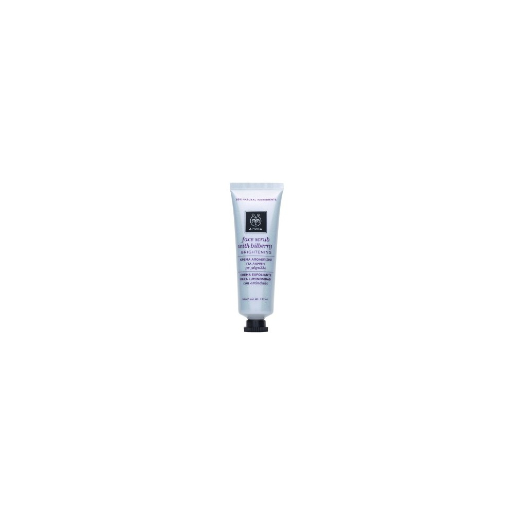 APIVITA - FACE SCRUB Κρέμα Απολέπισης για Λάμψη με μύρτιλλο 50ml