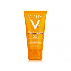 VICHY Ideal Soleil Ενυδατικό Τζελ Βελτιστοποίησης Μαυρίσματος προσώπου με λεπτόρευστη υφή SPF50, 50ml