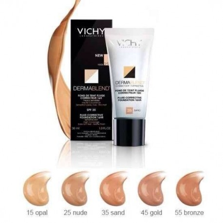 VICHY DERMABLEND CORRECTIVE FOUNDATION Corrects minor to moderate skin imperfections. Available in 5 shades. - NUDE