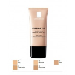 LA ROCHE POSAY - TOLERIANE TEINT HYDRATING WATER-CREAM FOUNDATION SPF 20, Tube 30ml (IN 5 COLORATIONS) - 03 SAND