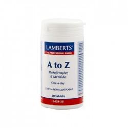 Lamberts - A-Z Multi Vitamins, 30 / 60 Tabs - 30 TABLETS