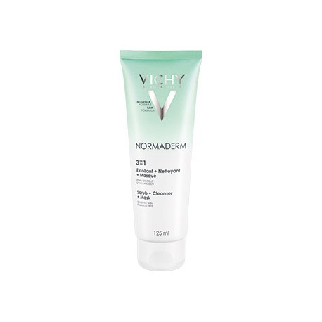 VICHY NORMADERM 3 σε 1 Απολέπιση + Καθαρισμός + Μάσκα 125ml