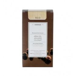 KORRES - Argan Oil Advanced Colorant Μόνιμη Βαφή Μαλλιών με τεχνολογία Pigment-Lock που κλειδώνει το χρώμα 50ml - 10.0 ΞΑΝΘΟ ΠΛΑ