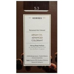 KORRES - Argan Oil Advanced Colorant Μόνιμη Βαφή Μαλλιών με τεχνολογία Pigment-Lock που κλειδώνει το χρώμα 50ml - 5.3 ΚΑΣΤΑΝΟ ΑΝ