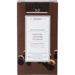 KORRES - Argan Oil Advanced Colorant Μόνιμη Βαφή Μαλλιών με τεχνολογία Pigment-Lock που κλειδώνει το χρώμα 50ml - 5.0 ΚΑΣΤΑΝΟ ΑΝ