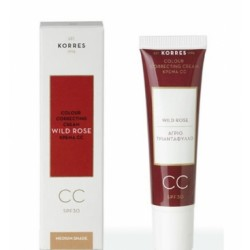 Korres Άγριο Τριαντάφυλλο CC Colour Correcting Cream Medium SPF30 30ml