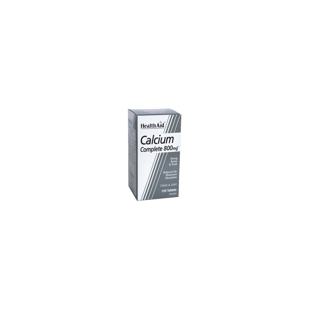 Health aid - Balanced Calcium Complete 800mg tablets 120s