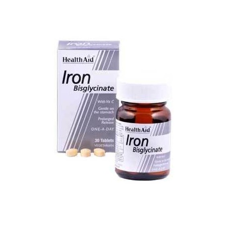 HEALTH AID - IRON bisglycinate 30mg, 30 tabs
