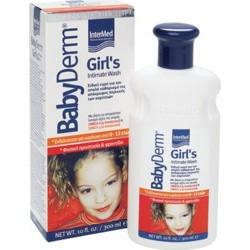 INTERMED Babyderm Girl's Intimate Wash, Υγρό Καθαρισμού Ευαίσθητης Περιοχής, 300ml.
