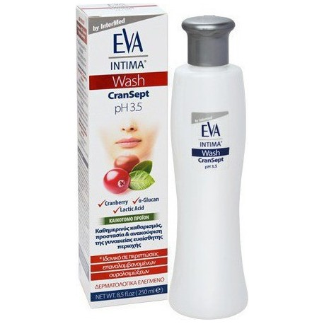 INTERMED Eva Intima Wash Cransept pH 3.5 (Καθαρισμός Ευαίσθητης Περιοχής) 250ml