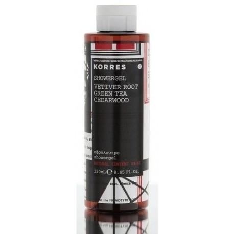 KORRES - FRAGNANCE Fragnanced Shower gels, 250mL - VETIVER ROOT-GREEN TEA